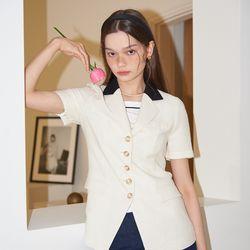 Classic Linen Jacket_ Ivory