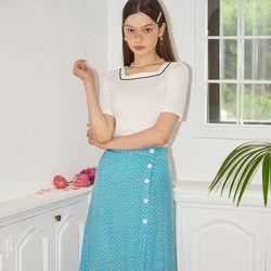 A line Midi Skirt_ Blue