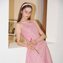 Waist Shirring Slip Dress_ Pink