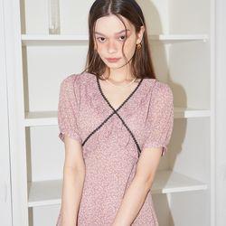 Lace Point Midi Dress_ Pink