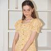 Ruffle Collar Dress_ Lemon