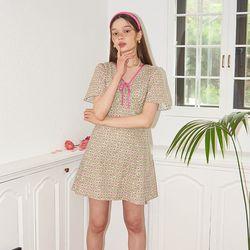 Ribbon Point Mini Dress_ Green