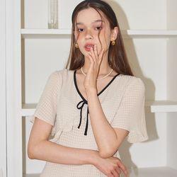 Ribbon Point Mini Dress_ Ivory