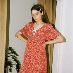 Ribbon Point Mermaid Dress_ Red