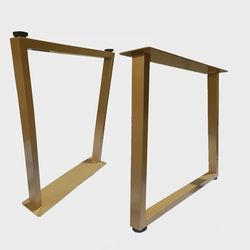 JDF004 사선형 우드슬랩 식탁 테이블 다리 철제다리 DIY 골드