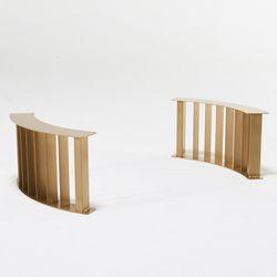 JDF011 라운드 우드슬랩 좌식 테이블 철제다리 DIY가구 골드
