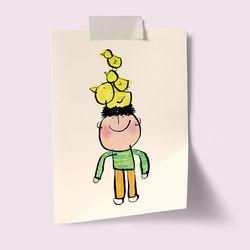 [drawingpaper] A3 포스터 - 병아리 친구들