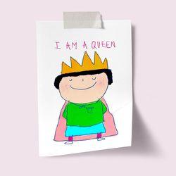 [drawingpaper] A3 포스터 - i am a queen