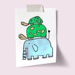 [drawingpaper] A3 포스터 - 코끼리거북이