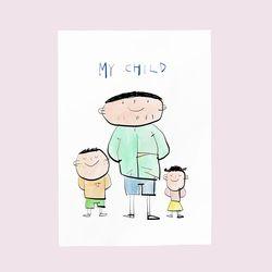 [drawingpaper] A3 포스터 - my child
