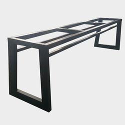 JDF017 50 30각 우드슬랩 3인용 벤치프레임 철제다리 의자 DIY
