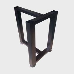 JDF026  T자 우드슬랩 벤치프레임 철제다리 DIY 블랙