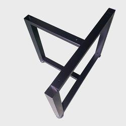 JDF027 T자 우드슬랩 좌식 소파 테이블 철제다리 DIY 블랙