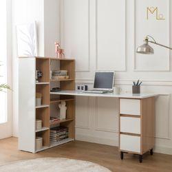 하우스 1600 책상 낮은책장 세트 H형책상 컴퓨터책상 1인용책상