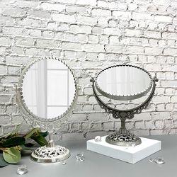 엔틱 인테리어 소품 원형 양면 월계수 탁상 거울 중형