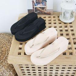 여성 패션 신발 스폰지 통굽 쪼리 슬리퍼