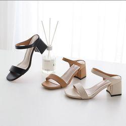여성 패션 신발 이선 밴드 펌프스굽 슬리퍼