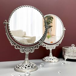 월계수 원형 360도 회전 메이크업 화장대 거울 대형