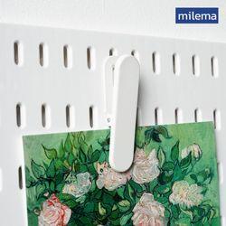 밀레마 페그보드 타공판 메탈클립 2P화이트