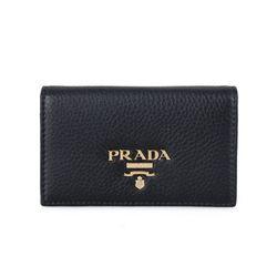프라다 1MC122 비텔로 그레인 여성 카드지갑 블랙