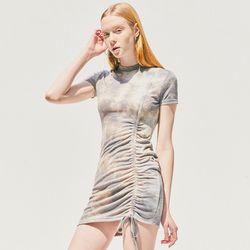 [CITY] Tiedie String Short Sleeve Jersey OnepieceGREY (CTD2)