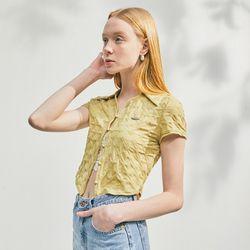 [CITY] Wrinkle Jersey ShirtYELLOW (CTD2)