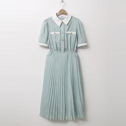 Camine Pleated Long Dress