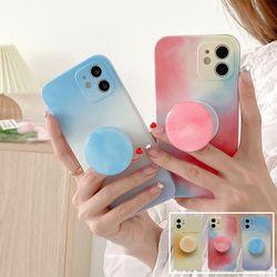 아이폰12 11 pro max xs 8 감성 파스텔 그립톡 케이스
