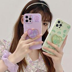 아이폰12 11 pro max xs 8 감성 하트 그립톡 폰케이스