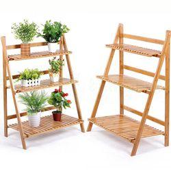 조립식 원목 3단 화분선반 식물 정리대 진열대
