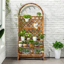 조립식 원목 아치형 화분 선반 대형 식물 정리대 진열대