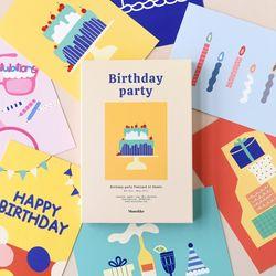 버스데이 파티 엽서 24매 세트