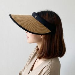 라탄 자외선 차단 여름 여성 썬캡 나들이 모자