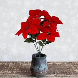 포인세티아 조화 크리스마스 겨울 꽃 소형