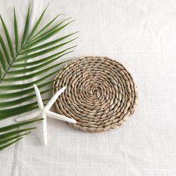 천연 옥수수잎 티코스터