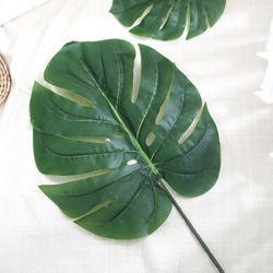 몬스테라 나뭇잎 조화 1P (소)