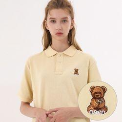 유니온 베어 PK 티셔츠 - YELLOW