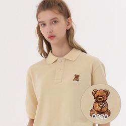 유니온 베어 PK 티셔츠 - LIGHT BEIGE