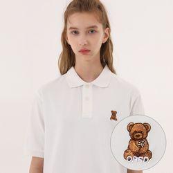 유니온 베어 PK 티셔츠 - WHITE