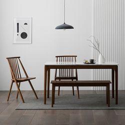 포멀 애쉬 원목 대리석 4인용 식탁세트 + 의자2 벤치1