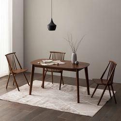 트니엘 애쉬 원목 4인용 식탁세트 + 의자2 벤치1