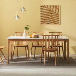 포멀 애쉬 원목 대리석 6인용 식탁세트 + 의자6