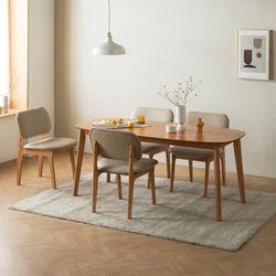 트니엘 애쉬 원목 5인용 식탁세트 + 의자 4
