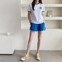 [Set] Girl Tee   Shorts