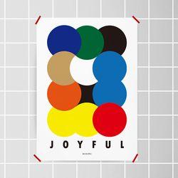 조이풀 M 유니크 디자인 포스터 회화 구성 A3(중형)