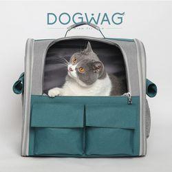 도그웨그 메쉬 백팩 강아지 산책 이동 가방 캐리어 고양이