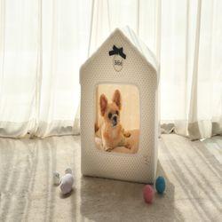 강아지 반려견 고양이 숨숨집 베베 리본 하우스 침대