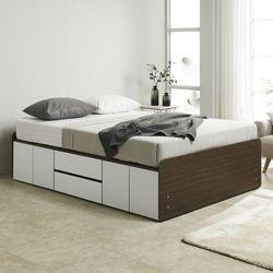 노뎀 높은 서랍중앙형 침대 퀸+독립 매트리스