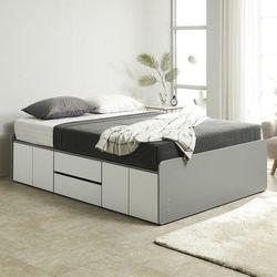 노뎀 높은 서랍중앙형 침대 퀸+본넬 매트리스