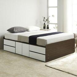 노뎀 높은 2단 도어중앙형 침대 퀸+독립 매트리스